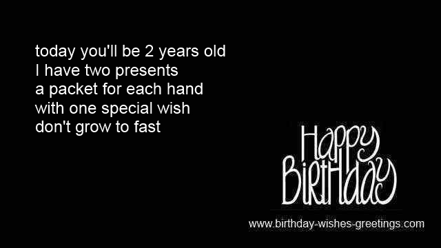 Birthday Sayings 2 Year Old Niece