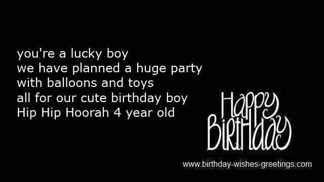 Funny 4 Year Old Boy Bday Sayings