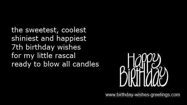 7th birthday greetings boy and 7 year old bday wishes girl greetings card for daughter funny 7th birthday poems for my son m4hsunfo