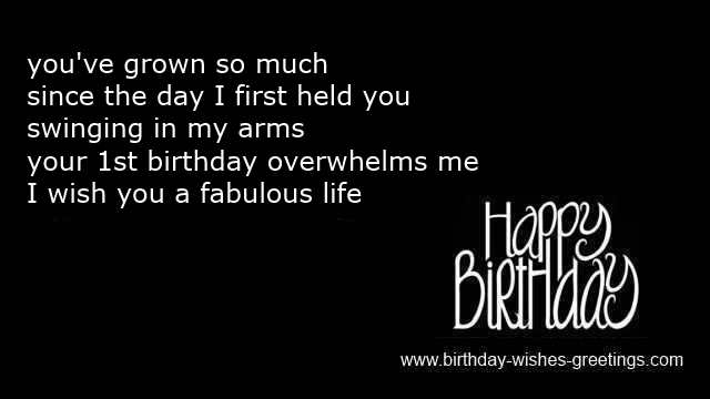 Funny One Year Old Birthday Poem