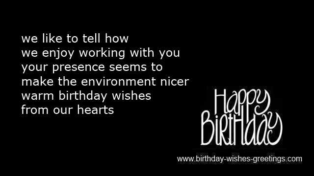 happy birthday sayings colleagues