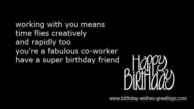 workmate birthday sms messages