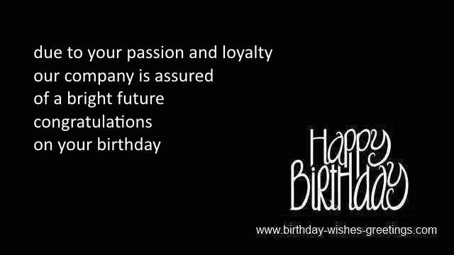 Birthday wishes employees and happy bday greetings employees – Professional Birthday Greeting