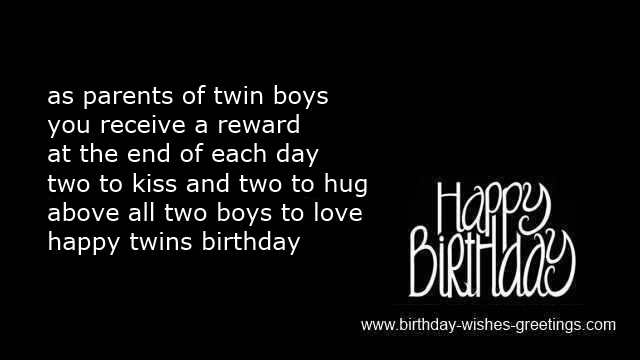 happy 1st birthday greetings twins