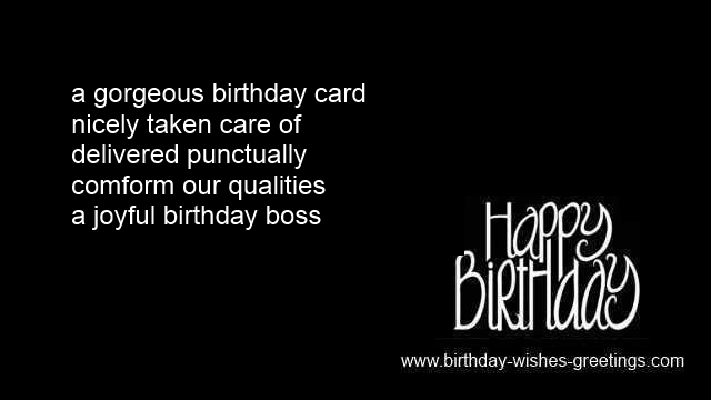 Birthday Card Messages Wishes Chief From Employee Boss Happy Poems