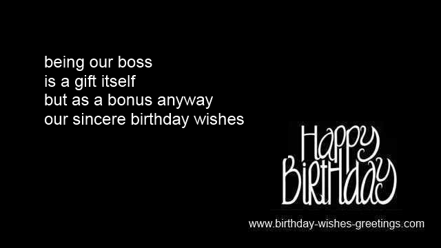 Boss Happy Birthday Poems Chief Greeting Cards