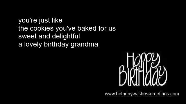 Grandma Grandmother Birthday Messages