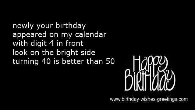 Short 40th Birthday Quotesjpg