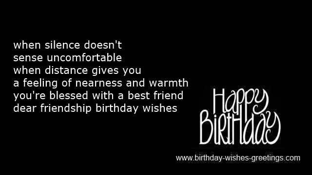special message birthday dear friend