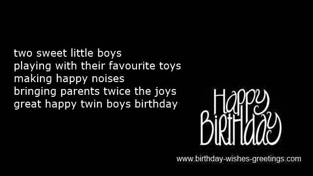Twins Birthday Wishes Greeting Card