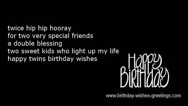 Happy Birthday Twin Quotes For Twins Happy Birthday