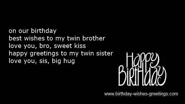 Happy Birthday Twin Sister Quotes happy birthday twins